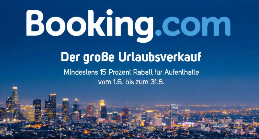 booking.com Urlaubsaktion